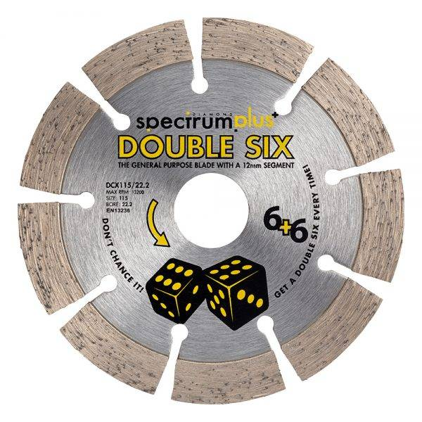 115 x 22 Double 6 Diamond Blade