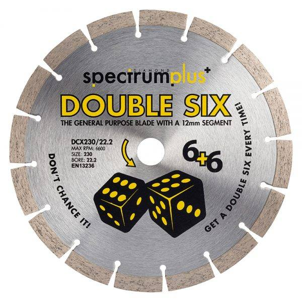 230 x 22 Double 6 Diamond Blade