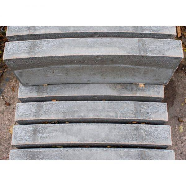125 x 255mm Half Battered Kerb 6m External Radius