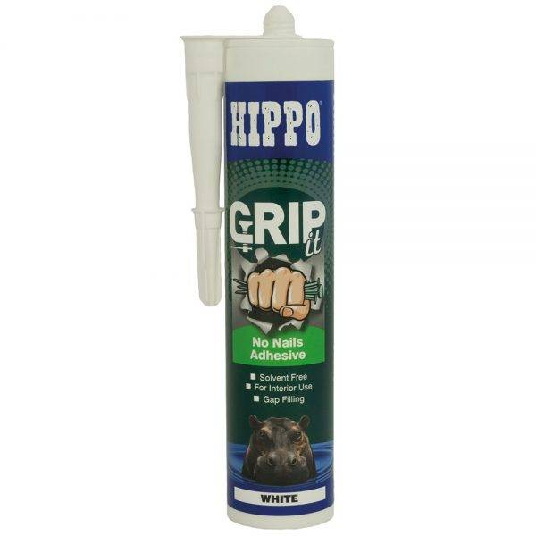 Hippo 310ml†GRIPit No Nails Adhesive (Solvent Free) Cartridge White