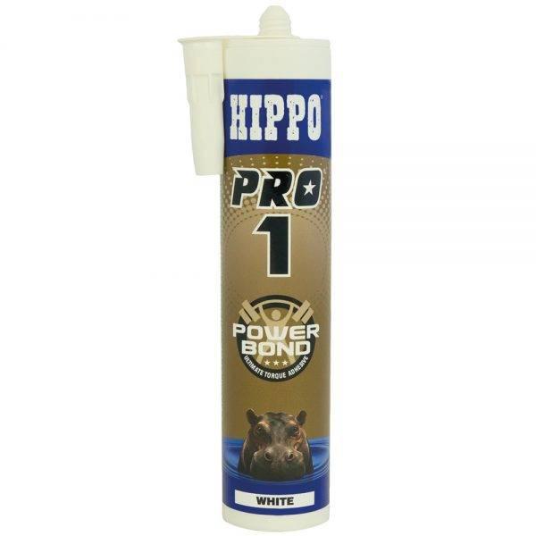 Hippo 310ml† PRO1 Power Bond Ultimate Grab Adhesive Cartridge White