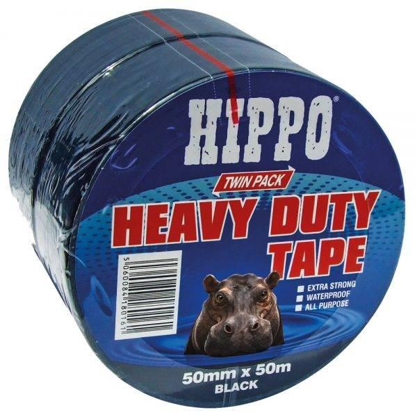Hippo Heavy Duty Tape Twin Pack 50mm x 50m