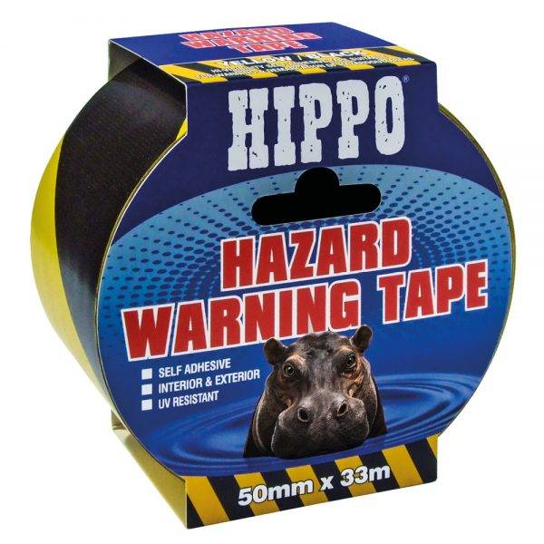 Hippo Hazard Warning Tape 50mm x 33m