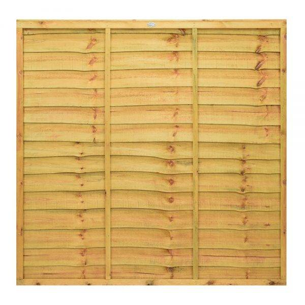 Lap Fence Panel Golden Brown 1.83 x 1.5m