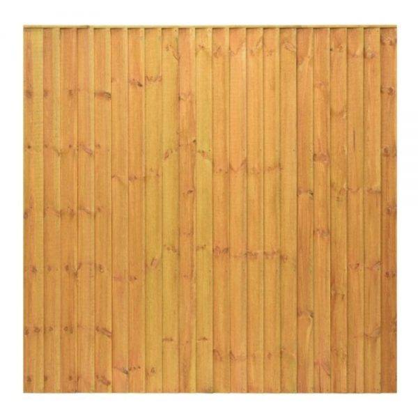 Standard Featheredge Panel Golden Brown 1.83 x 1.5m