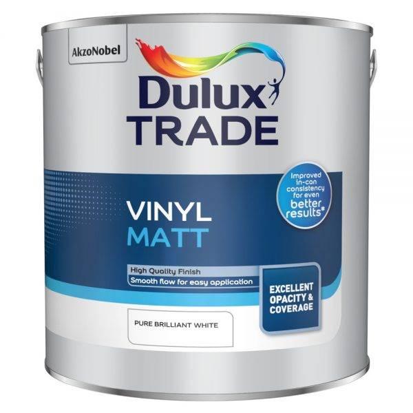 Dulux Trade Vinyl Matt Pure Brilliant White 2.5L