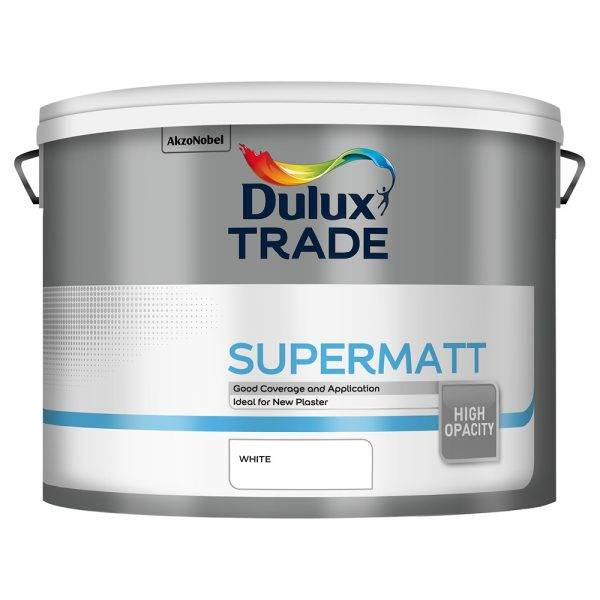 Dulux Trade Supermatt White 10L