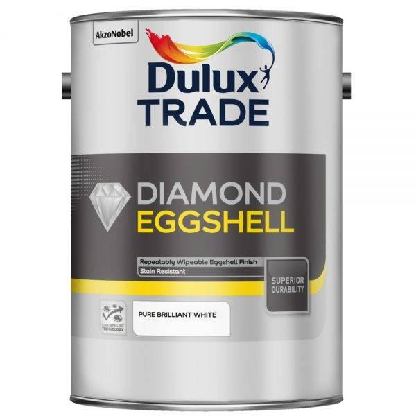 Dulux Trade Eggshell Pure Brilliant White 2.5L
