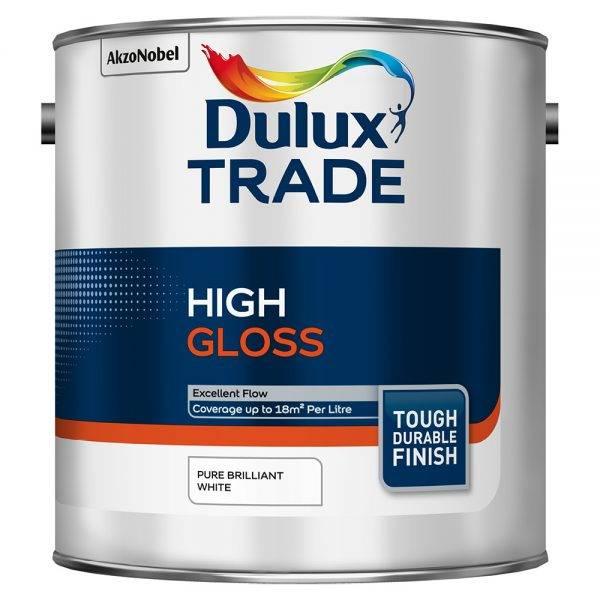 Dulux Trade High Gloss Pure Brilliant White 2.5L