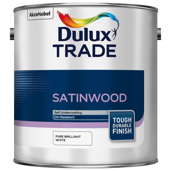 Dulux Trade Satinwood Pure Brilliant White 2.5L