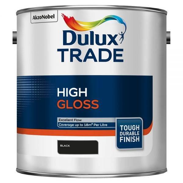 Dulux Trade High Gloss Black 2.5L
