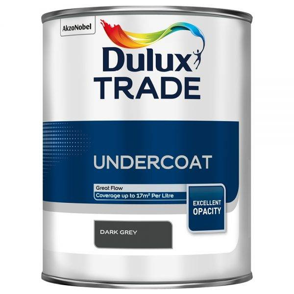 Dulux Trade Undercoat Dark Grey 1L