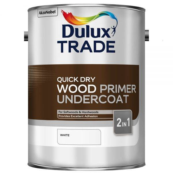 Dulux Trade Quick Dry Wood Primer Undercoat 5L