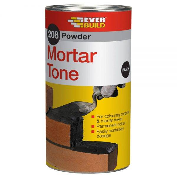 Everbuild 208 Powder Mortar Tone Black 1kg