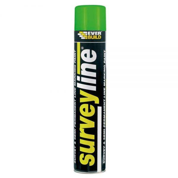 Everbuild Surveyline Spray Paint Green 700ml