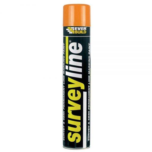 Everbuild Surveyline Spray Paint Orange 700ml