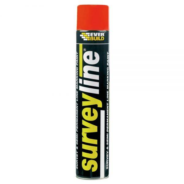 Everbuild Surveyline Spray Paint Red 700ml