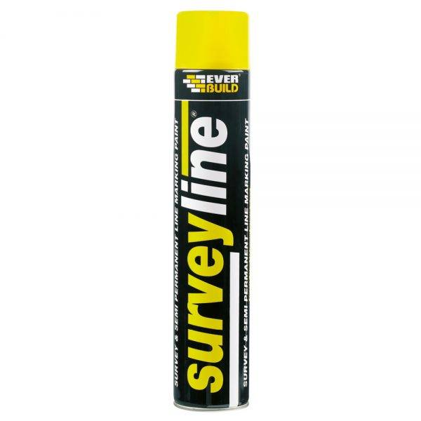Everbuild Surveyline Spray Paint Yellow 700ml