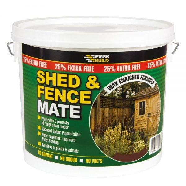Everbuild Shed & Fence Mate Ebony Black 5L