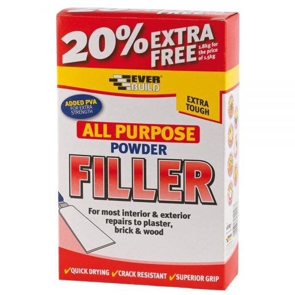 Everbuild All Purpose Powder Filler 1.5kg