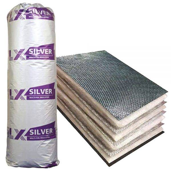 TLX Silver Multi Layer Insulation Blanket 1.2m x 10m
