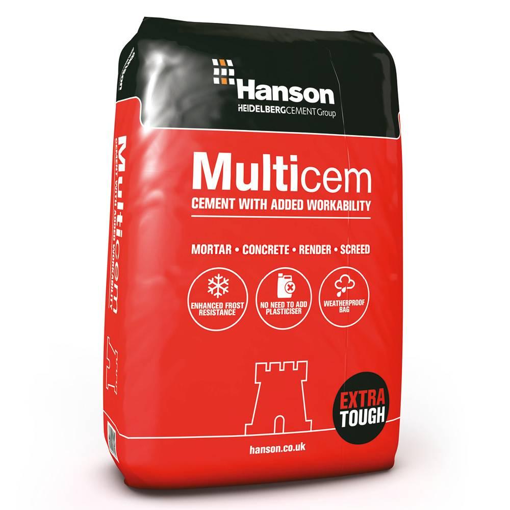 Hanson Multicem In Plastic 25kg Eh Smith Builders Merchants
