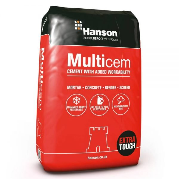 Hanson Multicem Cement Plastic Bag 25kg