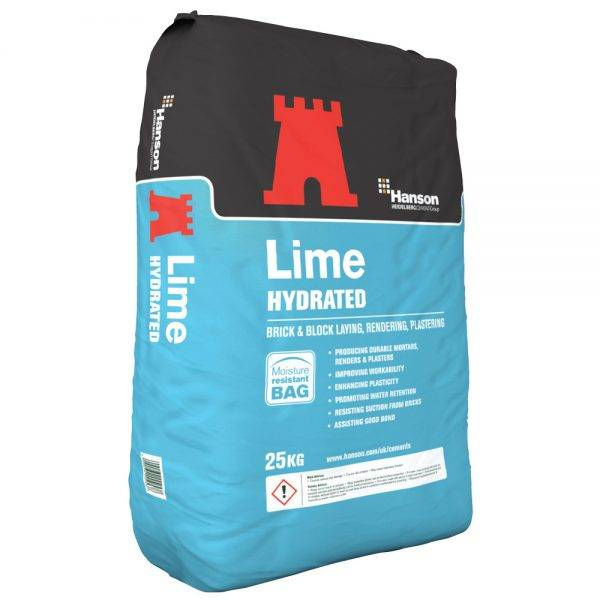 White Hydrated Lime 25kg