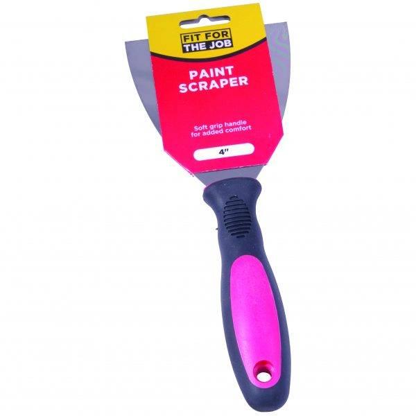 """Rodo 4"""" (100mm) FFJ Soft Grip Paint Scraper"""