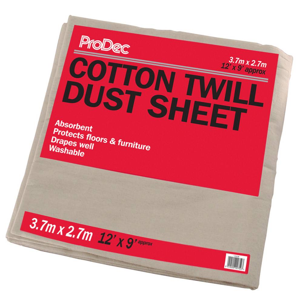 Rodo 12 x 9' Prodec Cotton Twill Dust Sheet