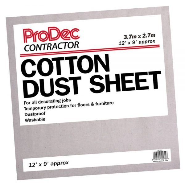 Rodo Contractor Cotton Twill Dust Sheet 12 x 9'