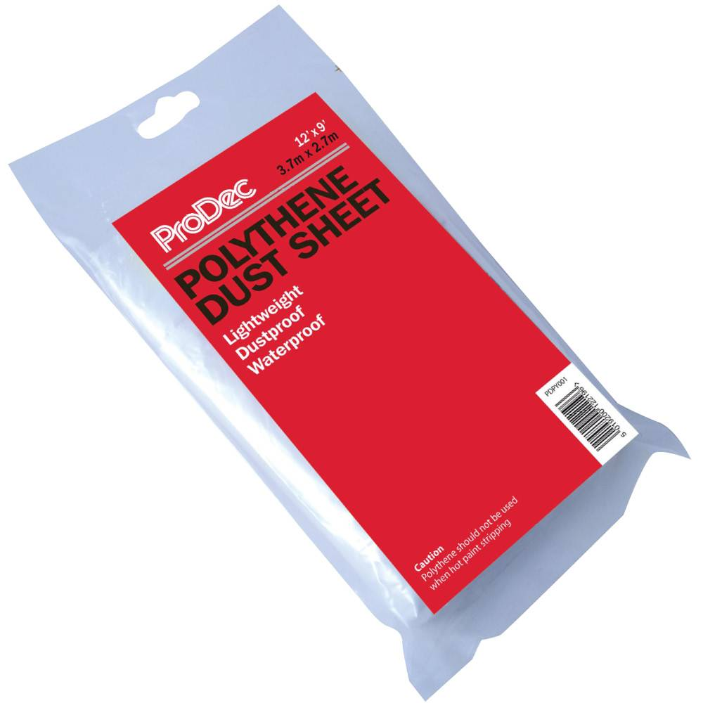 Rodo 12 x 9' Prodec Polythene Dust Sheet