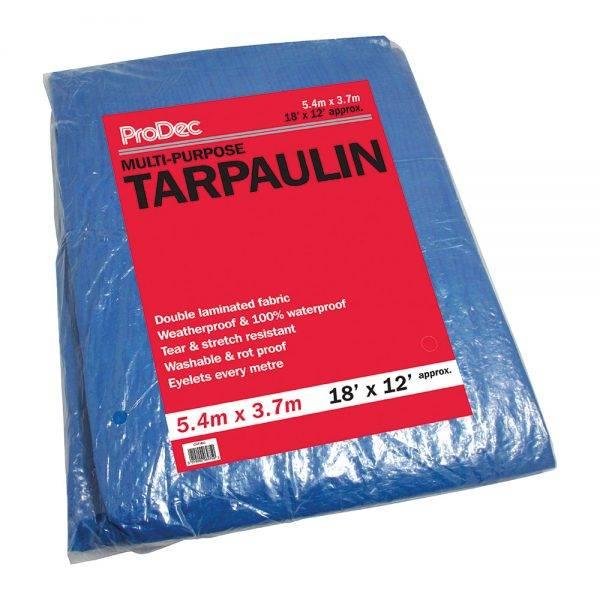 Rodo 18 x 12' (5.4x3.6m) Prodec Tarpaulin Blue