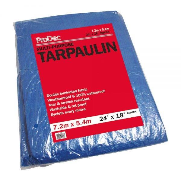 Rodo 24 x 18' (7.2x5.4m) Prodec Tarpaulin Blue