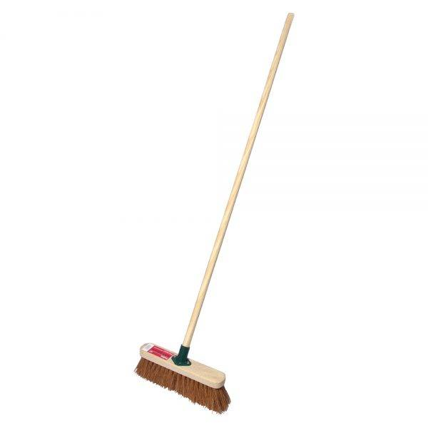 """Rodo 12"""" Prodec Soft Sweeping Broom Complete with Handle"""