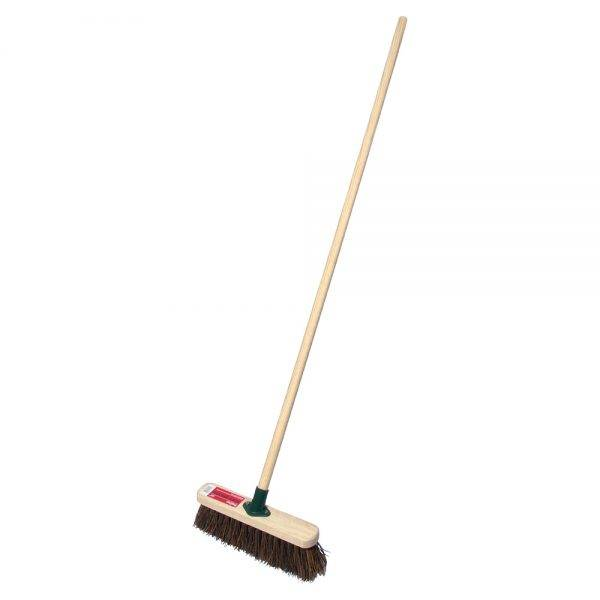 """Rodo 12"""" Prodec Stiff Sweeping Broom Complete with Handle"""