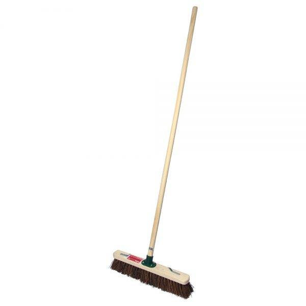"""Rodo 18"""" Prodec Stiff Sweeping Broom Complete with Handle & Stay"""