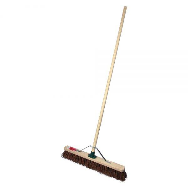 "Rodo 24"" Prodec Stiff Sweeping Broom Complete with Handle & Stay"