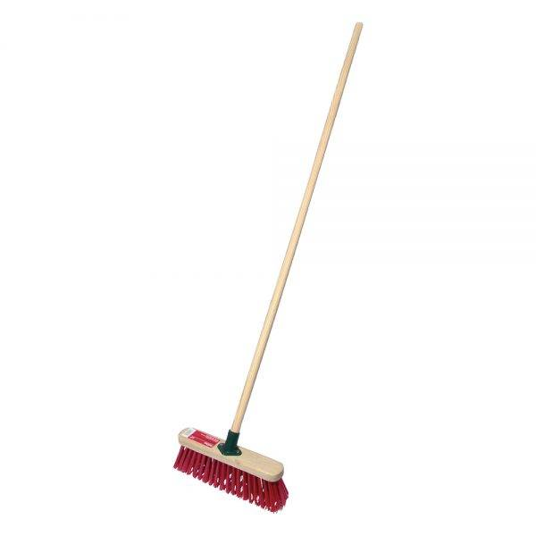 """Rodo 12"""" Prodec Synthetic Sweeping Broom Complete with Handle"""