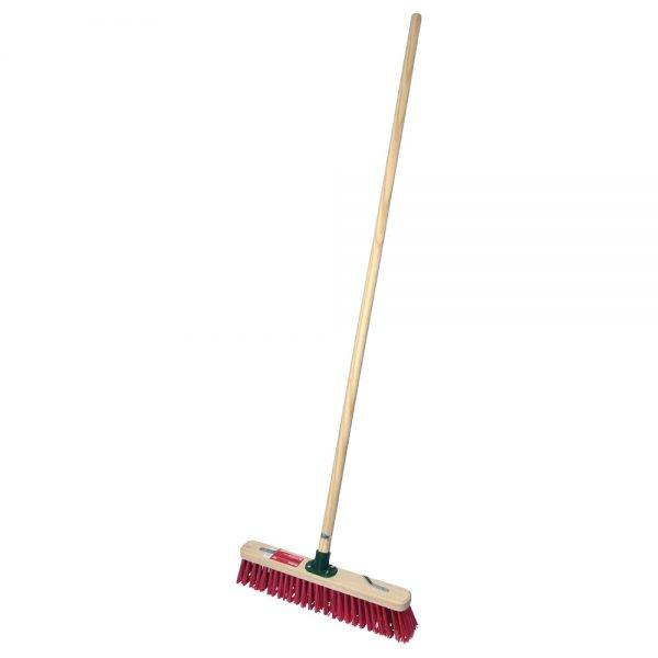 """Rodo 18"""" Prodec Synthetic Sweeping Broom Complete with Handle & Stay"""