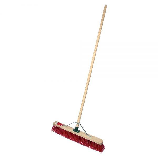 """Rodo 24"""" Prodec Synthetic Sweeping Broom Complete with Handle & Stay"""