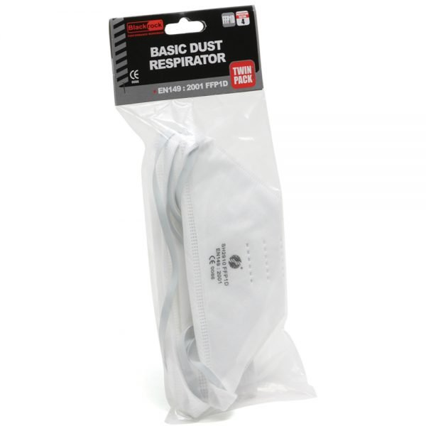 Blackrock FFP1 Fold Flat Non-Valved Disposable Respirator 2 Pack