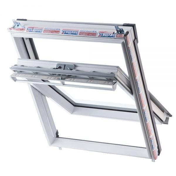 Keylite Polar PVC Centre Pivot Thermal Roof Window 550 x 780mm