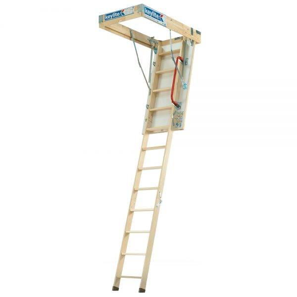 Keylite Timber Loft Ladder 1200 x 2800mm 600mm