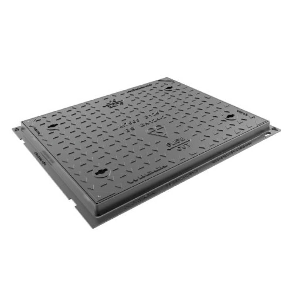 Wrekin 600 x 450 x 40mm Safeseal B125 Manhole Cover Ductile Iron
