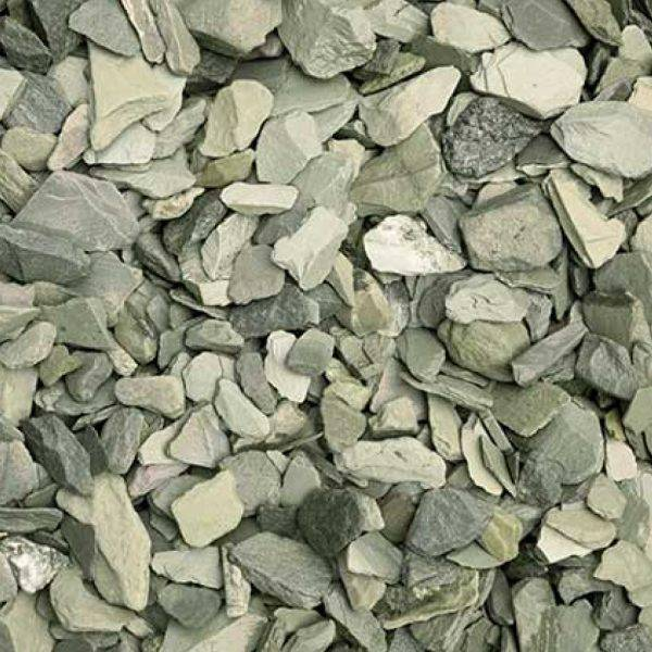 20mm Green Slate Decorative Aggregate 25kg