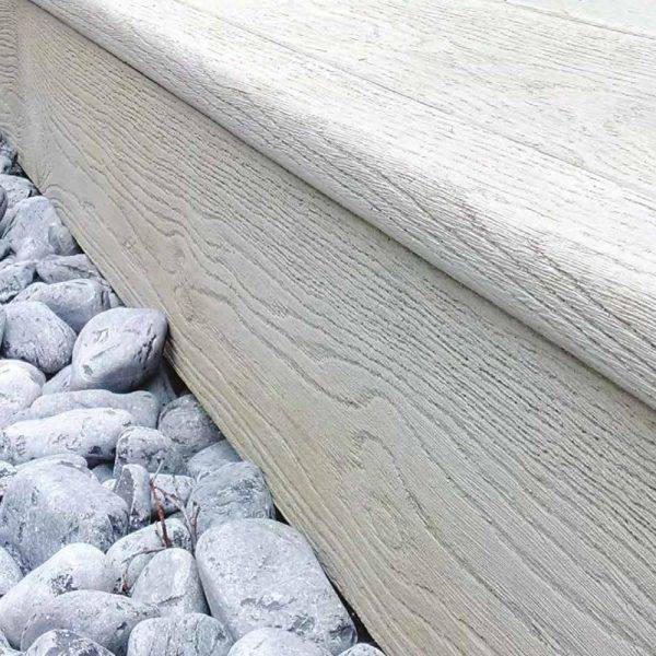 Bullnosed Standard Edging Smoked Drfitwood 33 x 50mm x 3.2m