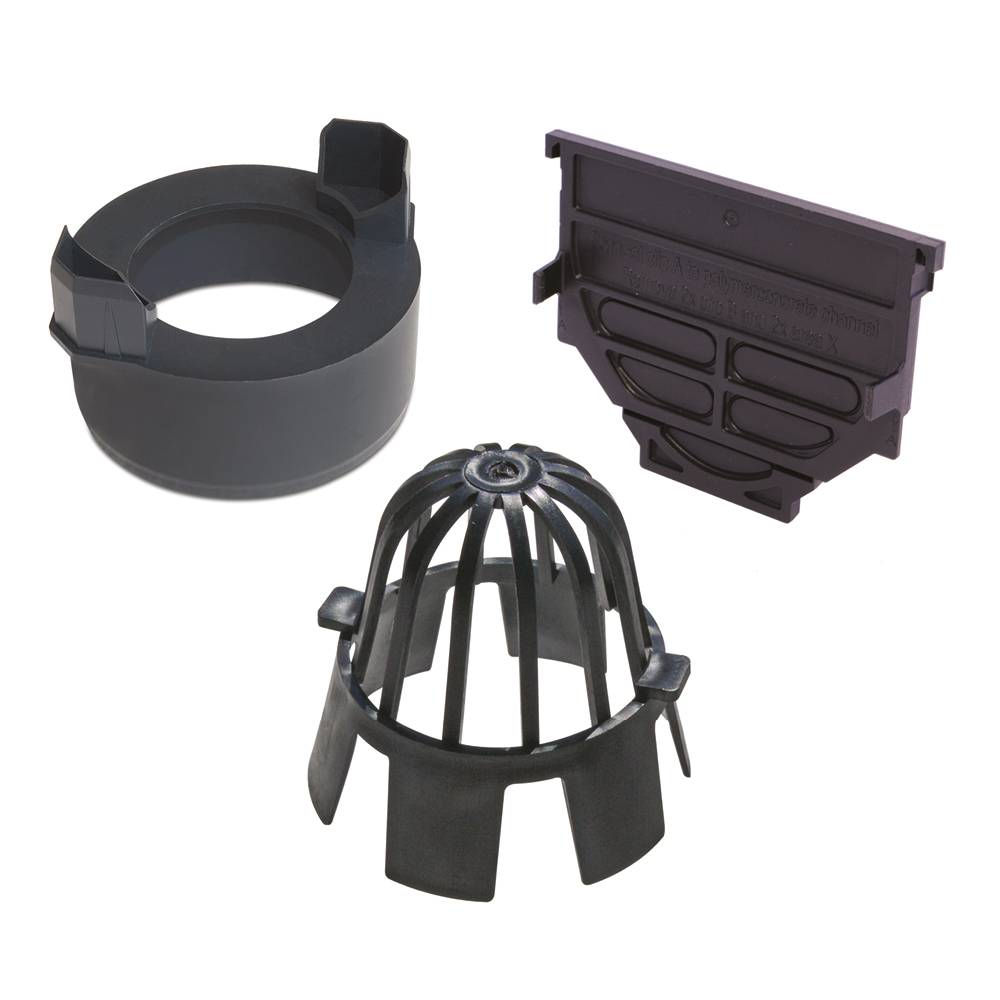 Aco Hexdrain Accessory Bag (x2 End Cap Vert Outlet Conn & Leafguard)