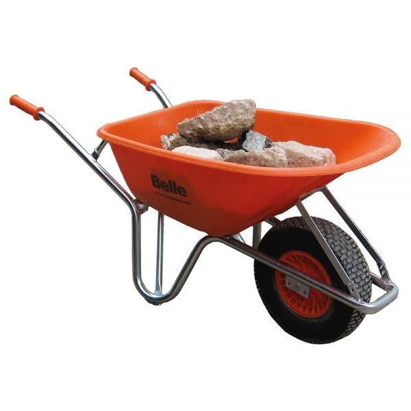 Belle 100l Warrior Wheelbarrow Orange UnAssembled