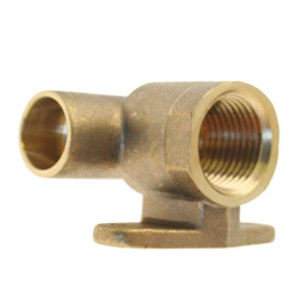 "15mm x 1/2"" End Feed Wal Plate Elbow CXFI"